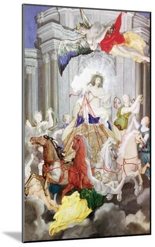 Triumph of King Louis XIV (1638-1715) of France Driving the Chariot of the Sun Preceded by Aurora-Joseph Werner-Mounted Giclee Print