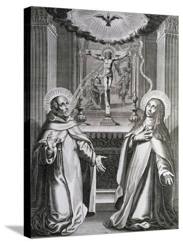 St. John of the Cross and St. Theresa of Avila--Stretched Canvas Print