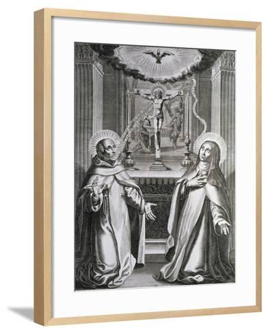 St. John of the Cross and St. Theresa of Avila--Framed Art Print