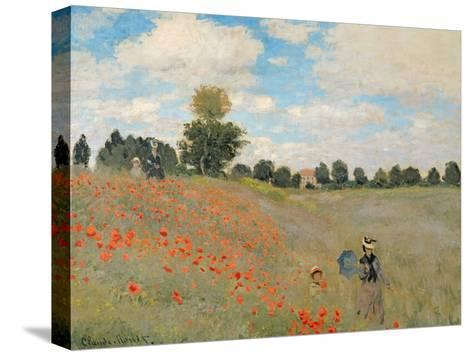 Wild Poppies, Near Argenteuil (Les Coquelicots: Environs D'Argenteuil), 1873-Claude Monet-Stretched Canvas Print