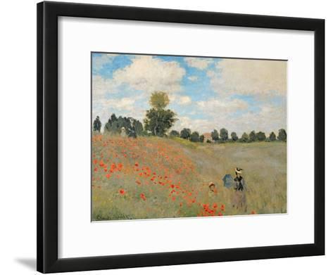 Wild Poppies, Near Argenteuil (Les Coquelicots: Environs D'Argenteuil), 1873-Claude Monet-Framed Art Print