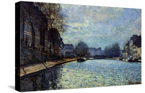 View of the Canal Saint-Martin, Paris, 1870-Alfred Sisley-Stretched Canvas Print