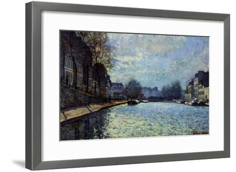 View of the Canal Saint-Martin, Paris, 1870-Alfred Sisley-Framed Art Print