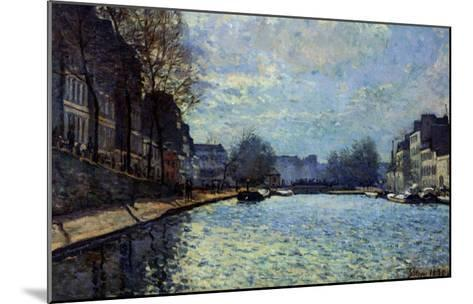 View of the Canal Saint-Martin, Paris, 1870-Alfred Sisley-Mounted Giclee Print