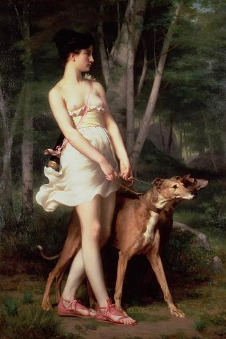 Diana the Huntress-Gaston Casimir Saint-Pierre-Stretched Canvas Print