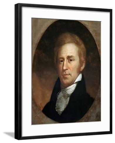 Portrait of William Clark, American Explorer and Governor of Missouri Territory--Framed Art Print