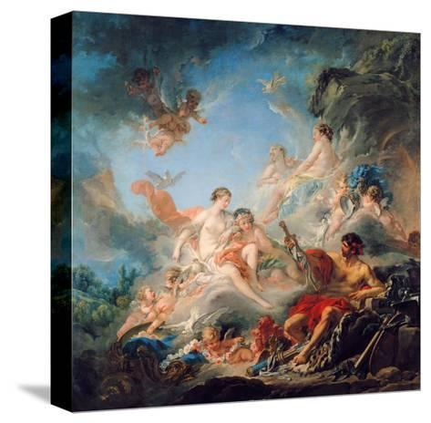 The Forge of Vulcan, or Vulcan Presenting Arms for Aeneas to Venus, Tapestry Cartoon, 1757-Francois Boucher-Stretched Canvas Print