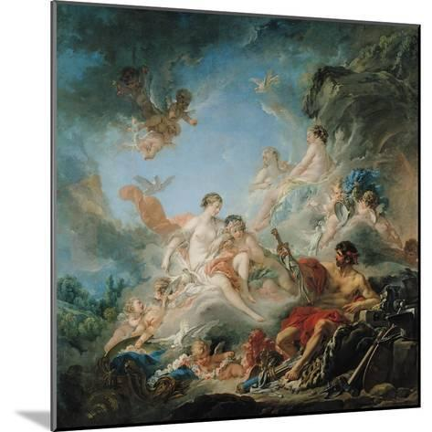 The Forge of Vulcan, or Vulcan Presenting Arms for Aeneas to Venus, Tapestry Cartoon, 1757-Francois Boucher-Mounted Giclee Print