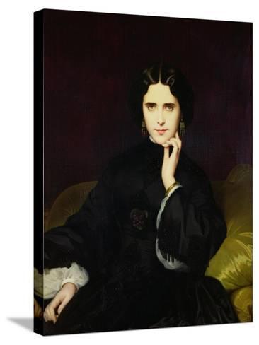 Portrait of Jeanne De Tourbay (1837-1908) 1862-Eugene Emmanuel Amaury-Duval-Stretched Canvas Print