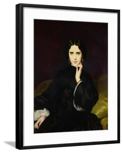 Portrait of Jeanne De Tourbay (1837-1908) 1862-Eugene Emmanuel Amaury-Duval-Framed Art Print