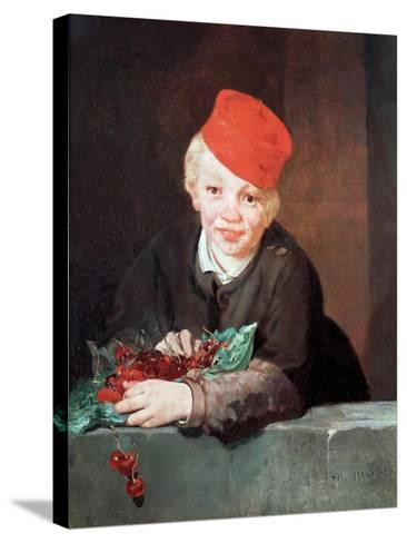 The Boy with the Cherries, 1859-Edouard Manet-Stretched Canvas Print
