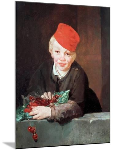The Boy with the Cherries, 1859-Edouard Manet-Mounted Giclee Print