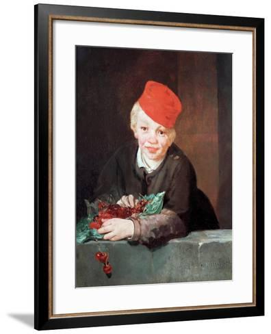 The Boy with the Cherries, 1859-Edouard Manet-Framed Art Print