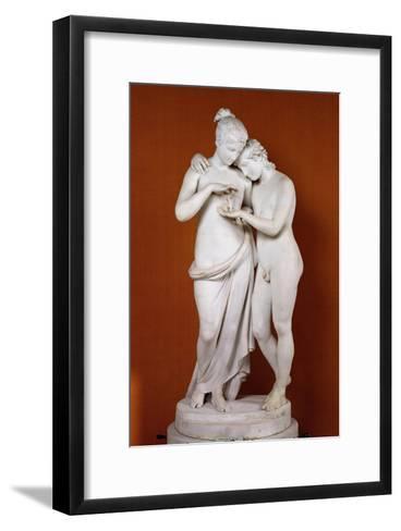 Cupid and Psyche-Antonio Canova-Framed Art Print