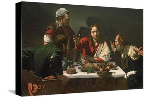 The Supper at Emmaus, 1601-Caravaggio-Stretched Canvas Print