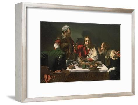 The Supper at Emmaus, 1601-Caravaggio-Framed Art Print