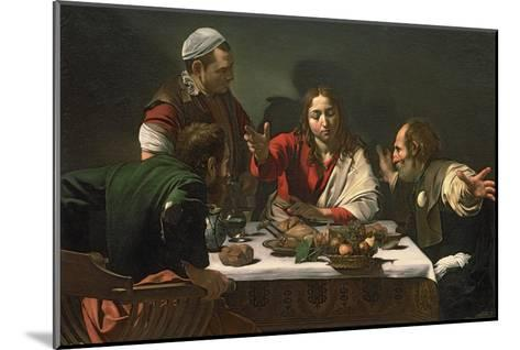 The Supper at Emmaus, 1601-Caravaggio-Mounted Giclee Print