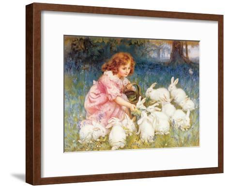 Feeding the Rabbits-Frederick Morgan-Framed Art Print