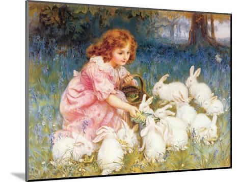 Feeding the Rabbits-Frederick Morgan-Mounted Giclee Print
