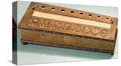 Calculating Machine Invented by Blaise Pascal (1623-62)--Stretched Canvas Print