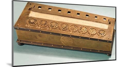 Calculating Machine Invented by Blaise Pascal (1623-62)--Mounted Giclee Print