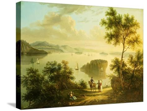 The Hudson River, American School, 19th Century--Stretched Canvas Print