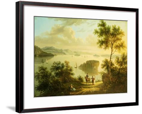 The Hudson River, American School, 19th Century--Framed Art Print