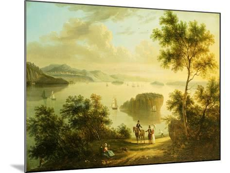 The Hudson River, American School, 19th Century--Mounted Giclee Print