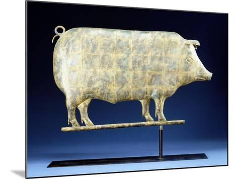 A Molded and Copper Gilded Copper Pig Weathervane, American, 19th Century--Mounted Giclee Print
