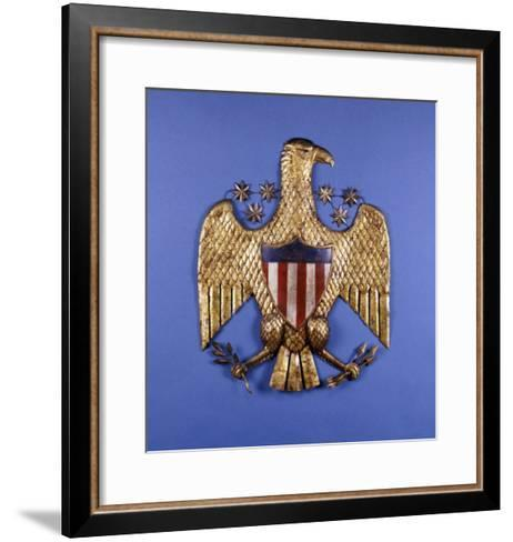 A Gilded Pressed Tin Eagle, American, 20th Century--Framed Art Print
