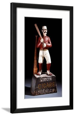A Painted and Carved Baseball Player Tobacco Figure, circa 1875--Framed Art Print