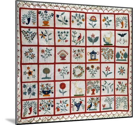 Appliqued Cotton Quilt Coverlet, Probably New York, Dated January 15th, 1859--Mounted Giclee Print