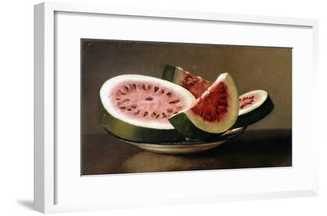 Still Life with Watermelon, American School (19th Century)--Framed Art Print