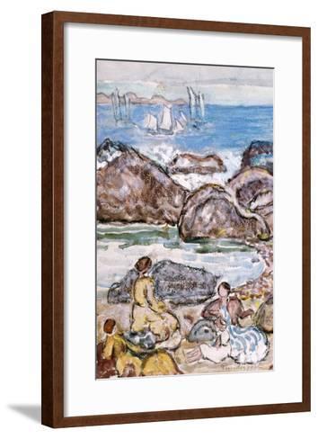 By the Sea-Maurice Brazil Prendergast-Framed Art Print