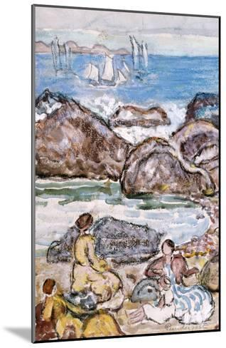 By the Sea-Maurice Brazil Prendergast-Mounted Giclee Print