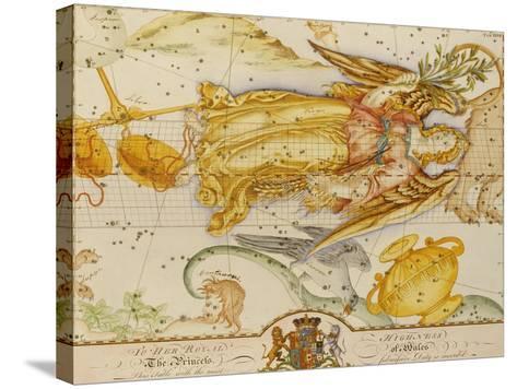 Uranographia, or the Celestial Atlas, circa 1800-John Bevis-Stretched Canvas Print