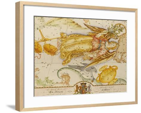 Uranographia, or the Celestial Atlas, circa 1800-John Bevis-Framed Art Print