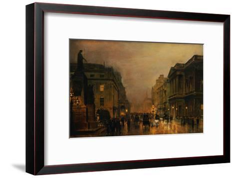 Pall Mall-John Atkinson Grimshaw-Framed Art Print