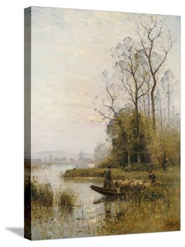 The Ferry-Louis-aime Japy-Stretched Canvas Print