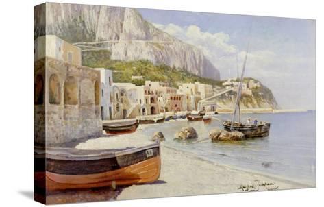 Marina Grande, Capri-Holgar Hvitfeld Jerichau-Stretched Canvas Print