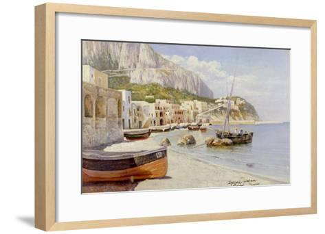 Marina Grande, Capri-Holgar Hvitfeld Jerichau-Framed Art Print