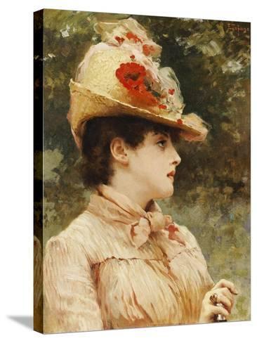 A Young Beauty-Eduardo Tofano-Stretched Canvas Print