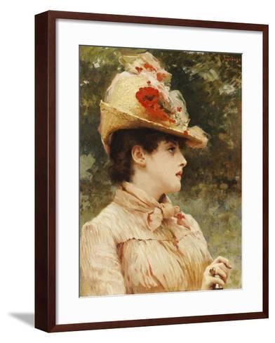 A Young Beauty-Eduardo Tofano-Framed Art Print