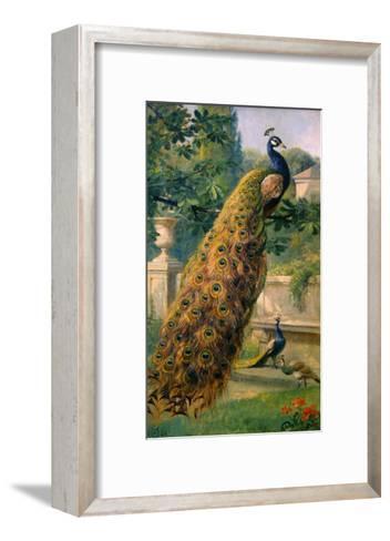 Peacocks in the Park, 1886-Olaf August Hermansen-Framed Art Print
