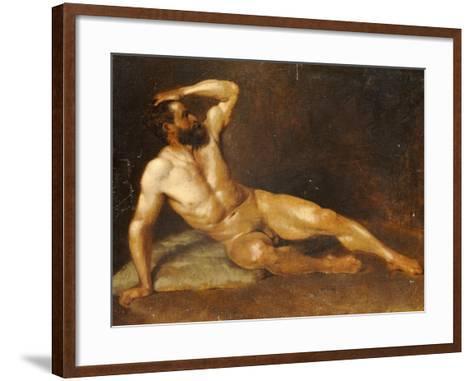 A Reclining Male Nude-Hans Von Staschiripka Canon-Framed Art Print