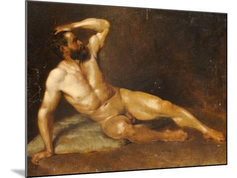 A Reclining Male Nude-Hans Von Staschiripka Canon-Mounted Giclee Print
