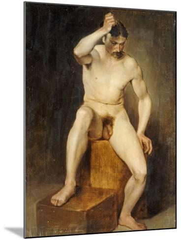 A Seated Male Nude-Hans Von Staschiripka Canon-Mounted Giclee Print