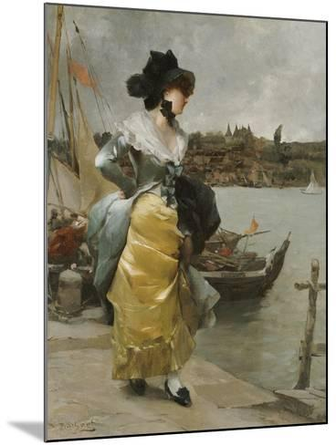 At the Quayside-Emile-auguste Pinchart-Mounted Giclee Print