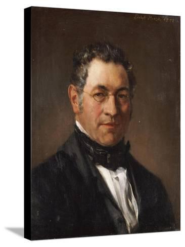 Portrait of Professor Siegfried Dehn (1799-1858)-Adolf Von Menzel-Stretched Canvas Print