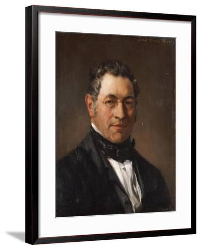Portrait of Professor Siegfried Dehn (1799-1858)-Adolf Von Menzel-Framed Art Print